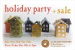 2012 Holiday Party + Sale flier